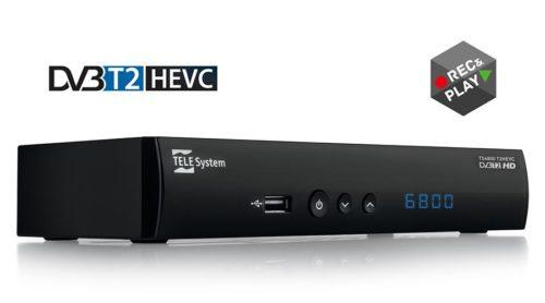 TELE System TS6800: Terrestrial DVB-T2 / HEVC Digital Receiver
