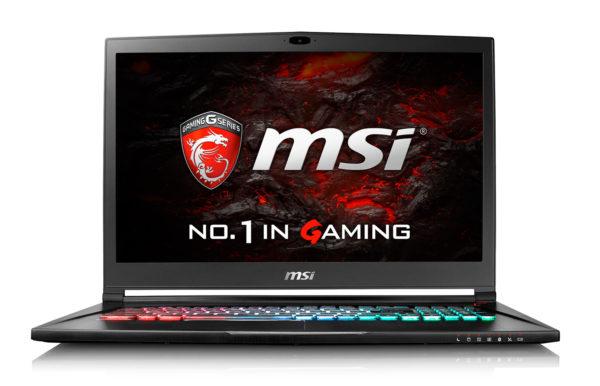 MSI GS73VR 7RF, 17-inch notebook 120Hz SSD 512 GB GTX 1060 1399 €