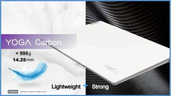 """13"""" Ultrabook Lenovo Yoga Carbon, with Intel Tiger Lake and 16 hours of battery life"""